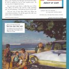 1957 AVIS Rent A Car Vintage Print Advertisement