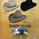 1998 BEAVER COWBOY HATS Magazine Print Advertisement