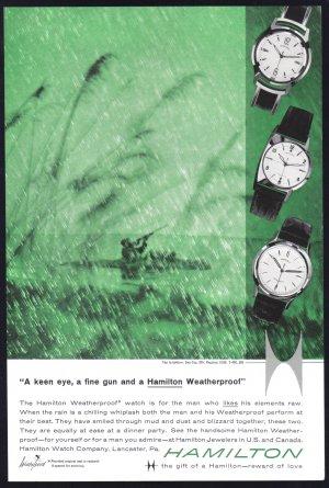 1959 HAMILTON Watch Magazine Print Ad