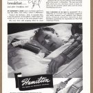 1945 HAMILTON Watch Magazine Print Ad
