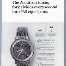 1964 ACUTRON Watch Magazine Print Ad