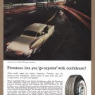 1957 FIRESTONE Tires Magazine Print Ad