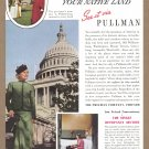 1938 PULLMAN Rail Service Magazine Print Ad