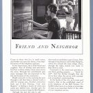 1933 AT&T Telephone Vintage Magazine Print Ad