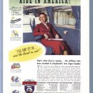 1937 GREYHOUND BUS Vintage Magazine Print Ad