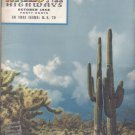 1958 Vintage ARIZONA HIGHWAYS Magazine October Issue