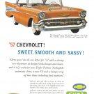 1957 CHEVROLET BEL AIR Vintage Auto Print Ad