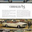 1963 CHRYSLER Vintage Auto Print Ad