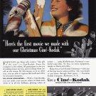 1938 CINE-KODAK 8 MOVIE CAMERA Vintage Print Ad