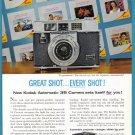 1960 KODAK AUTOMATIC CAMERA Vintage Print Ad