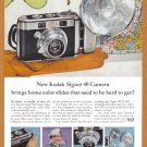 1957 KODAK SIGNET CAMERA Vintage Print Ad