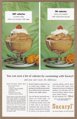 1957 SUCARYL SWEETNER Vintage Print Ad