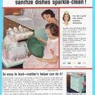 1959 FRIGIDAIRE DISHWASHER Vintage Print Ad