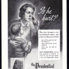 1937 PRUDENTIAL INSURANCE Vintage Print Ad