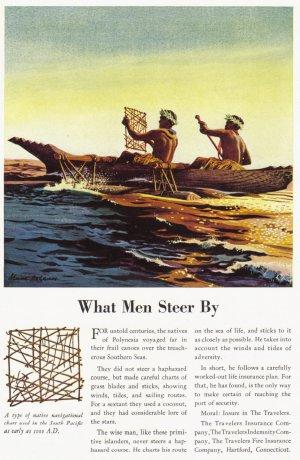 1937 TRAVELERS INSURANCE Vintage Print Ad