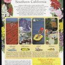 1949 SOUTHERN CALIFORNIA Vintage Travel Print Ad
