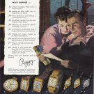 1948 HAMILTON WATCHES Vintage Magazine Print Ad