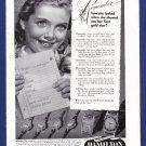 1949 HAMILTON WATCH Vintage Magazine Print Ad