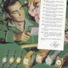 1950 HAMILTON WATCHES Vintage Magazine Print Ad