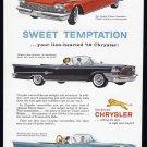 1959 CHRYSLER Vintage Auto Print Ad