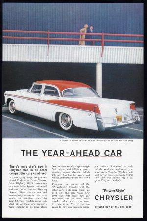 1956 CHRYSLER WINDSOR Vintage Auto Print Ad