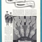 1937 HAMILTON WATCHES Vintage Print Ad
