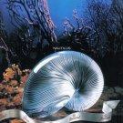 "1990 BACCARAT CRYSTAL ""Nautilus Shell"" Vintage Print Ad"