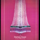 1979 CHANDELIERS by DENTON GRANT Vintage Magzine Ad
