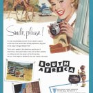 1958 SOUTH AFRICA Vintage Travel Print Ad