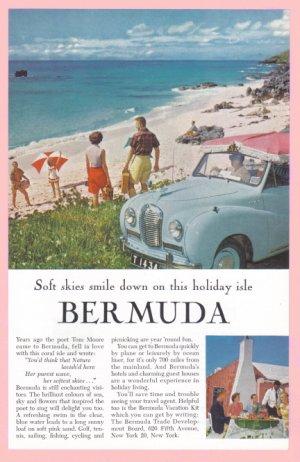 1957 BERMUDA Vintage Travel Print Ad