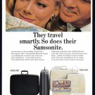 1965 SAMSONITE LUGGAGE Vintage Magazine Print Ad