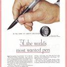 1946 PARKER PEN Vintage Magazine Print Ad