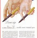 1948 PARKER PENS Vintage Magazine Print Ad