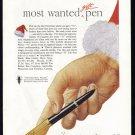 1946 PARKER PEN Christmas Gift Vintage Magazine Print Ad