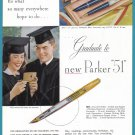 1949 PARKER PEN For Graduation Vintage Magazine Print Ad