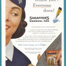 1957 SHEAFFER PEN Vintage Magazine Print Ad