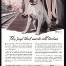 1944 MILWAUKEE ROAD RAILROAD WWII-Era Print Ad