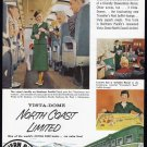 1956 NORTH COAST RAILROAD Vintage Print Ad