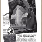 1940 NORTHERN PACIFIC RAILWAY Vintage Print Ad