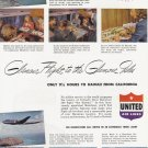 1948 UNITED AIRLINES Vintage Print Ad
