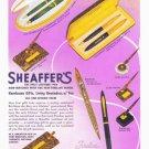 1939 SHEAFFER'S PENS Vintage Print Ad