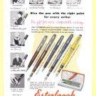 1954 ESTERBROOK PENS Vintage Print Ad
