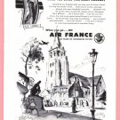1949 AIR FRANCE Airlines Vintage Print Ad