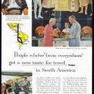 1959 PANAGRA AIRLINES Vintage Print Ad
