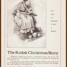 1907 KODAK CAMERA Antique Illustrated Print Ad