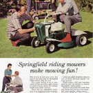 1960 SPRINGFIELD LAWN MOWER Vintage Magazine Ad