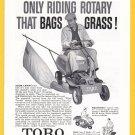 1960 LAWN MOWER Vintage TORO Magazine Print Ad