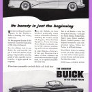 1953 BUICK Vintage Auto Print Ad