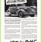 1938 BUICK Vintage Auto Print Ad