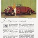 1934 BUICK Vintage Auto Print Ad